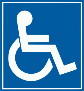 Special needs parking sign