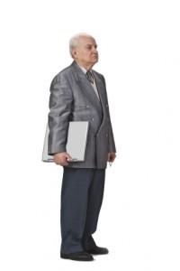 Granddad with laptop