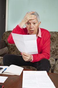 Shocked older woman